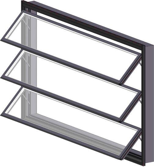 Lamellenfenster bigAir frame von Lacker