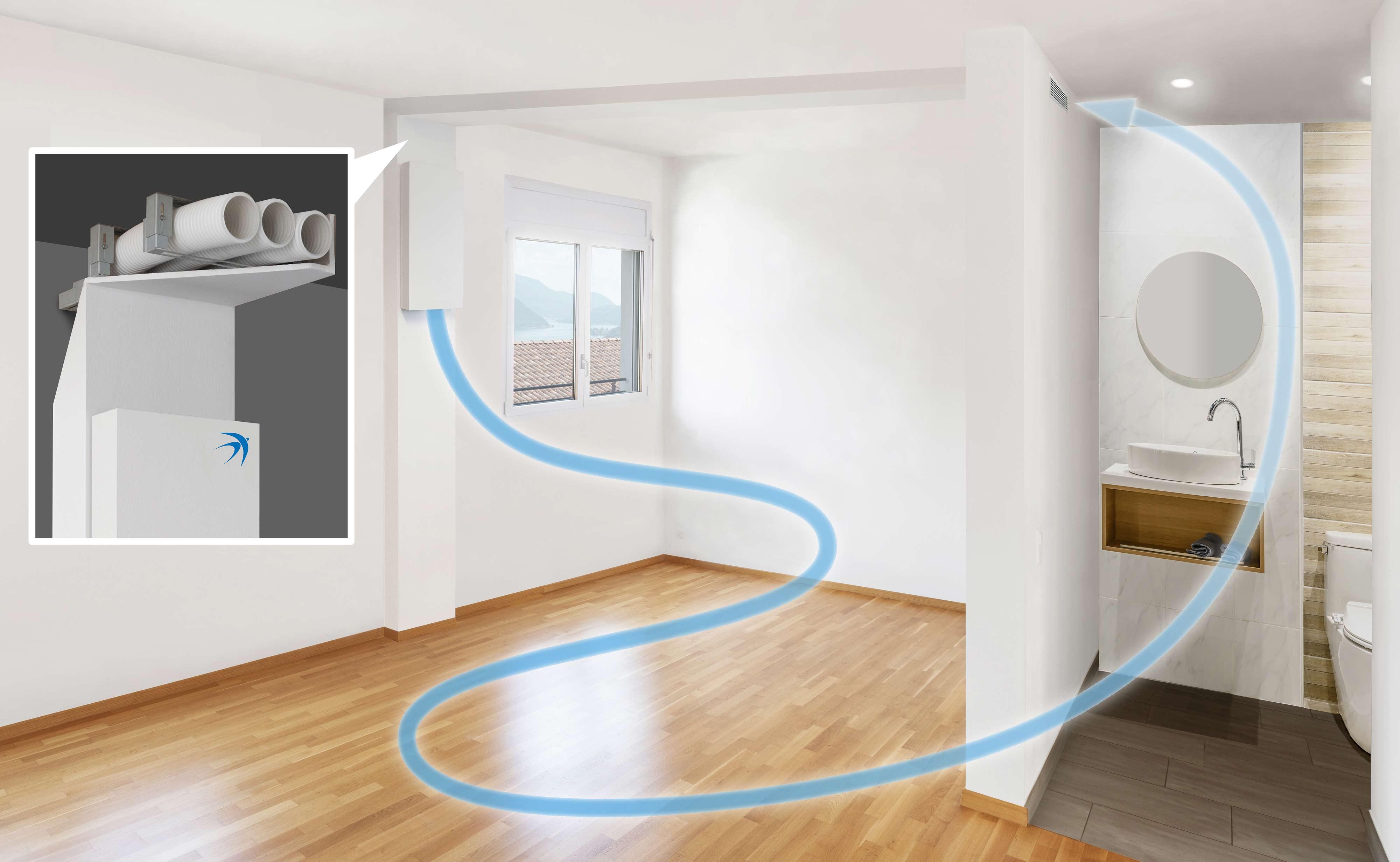 bluMartins freeAir Wohnraumlüftung mit praktischer Badentlüftung