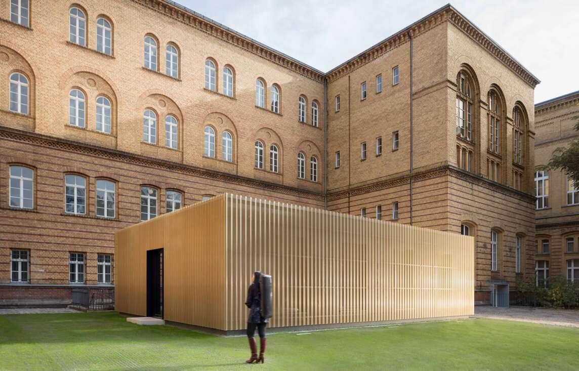Pavillons mit Übungsräumen für Musikstudeten - Universität der Künste (Foto © Werner Huthmacher)