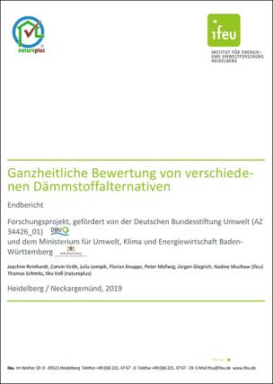 """Studie """"Ganzheitliche Bewertung von verschiedenen Dämmstoffalternativen"""""""