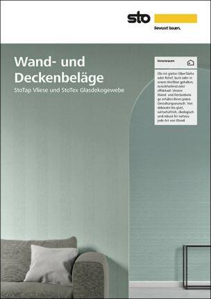 """Sto-Broschüre """"Wand- und Deckenbeläge"""""""