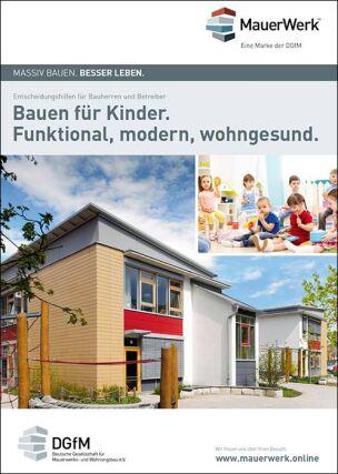 """Broschüre """"Bauen für Kinder. Funktional, modern, wohngesund"""""""