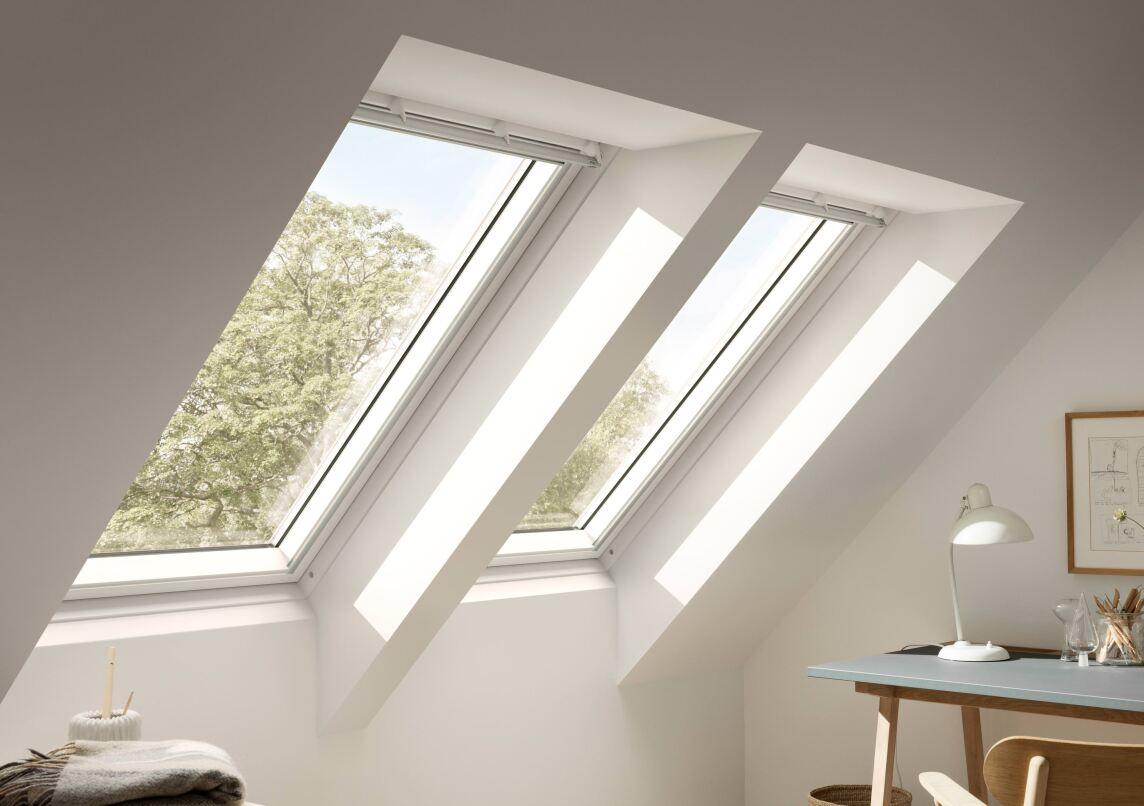 klassisch: 2 normale Dachfenster nebeneinander