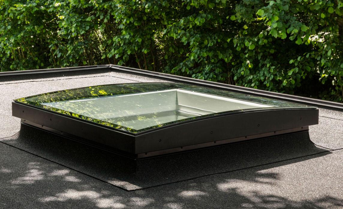 Konvex-Glas-Flachdachfenster