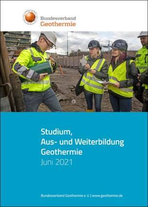 """Infobroschüre """"Studium, Aus- und Weiterbildung Geothermie"""""""