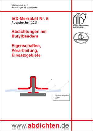 """IVD-Merkblatt Nr. 5 """"Abdichtungen mit Butylbändern"""""""