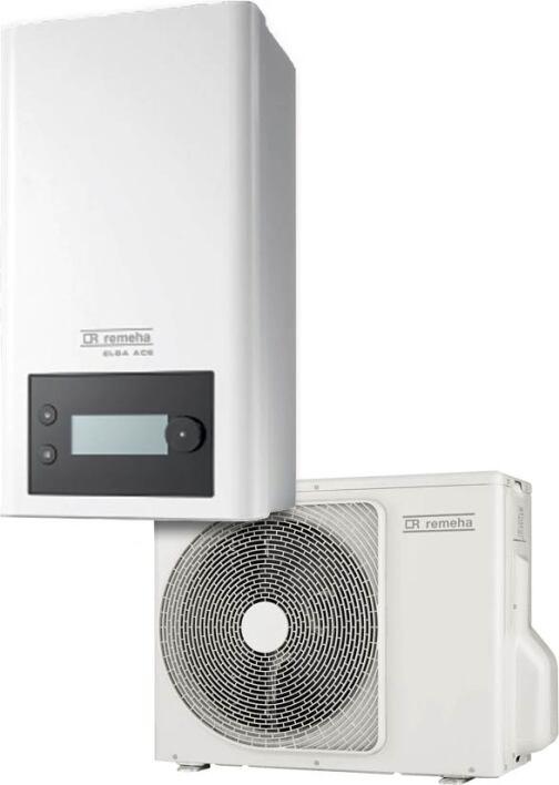 Split-Luft/Wasser-Wärmepumpe Elga Ace von Remeha für hybride Heizungsanlagen
